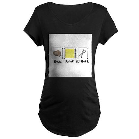 Rock Paper Scissors Maternity Dark T-Shirt