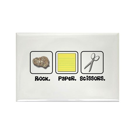 Rock Paper Scissors Rectangle Magnet (100 pack)