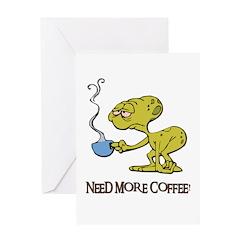 Cofee Alien Greeting Card