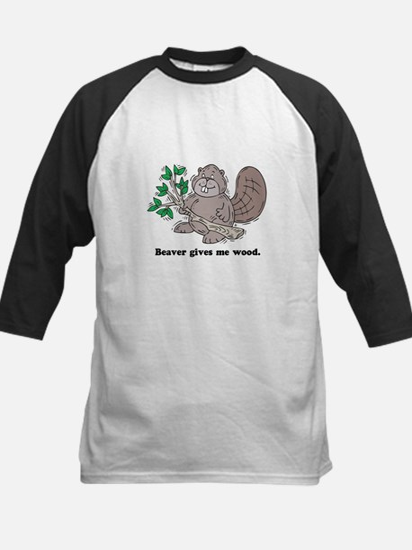 Beaver gives me Wood Kids Baseball Jersey
