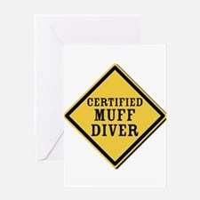 Certified Muff Diver Greeting Card