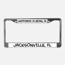 Happiness is Jacksonville License Plate Frame