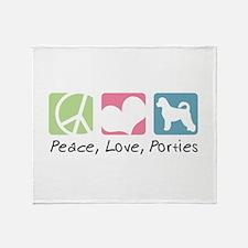 Peace, Love, Porties Throw Blanket