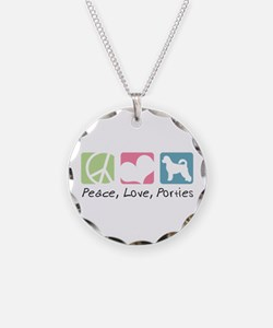 Peace, Love, Porties Necklace
