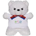Peace, Love, Porties Teddy Bear