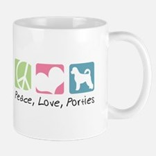 Peace, Love, Porties Mug