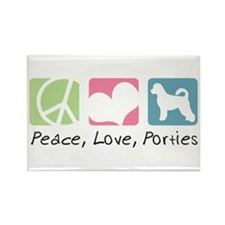 Peace, Love, Porties Rectangle Magnet (10 pack)