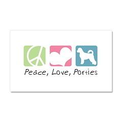 Peace, Love, Porties Car Magnet 20 x 12
