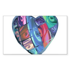 Rose Heart Decal