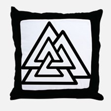 Valknut/Valknot II Throw Pillow
