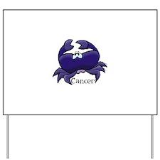 Purple Cancer Crab Yard Sign