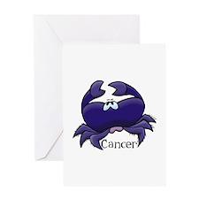 Purple Cancer Crab Greeting Card