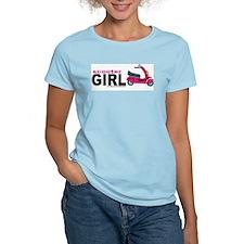 """""""Scooter Girl"""" Women's Pink T-Shirt"""