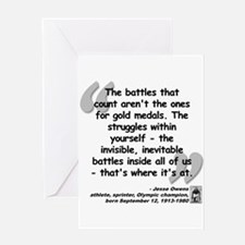 Owens Battles Quote Greeting Card