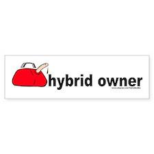 """Hybrid Owner"" gas can Bumper Bumper Sticker"