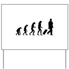 Evolution businessman Yard Sign