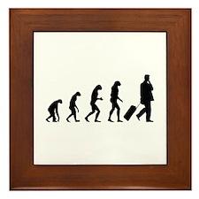 Evolution businessman Framed Tile