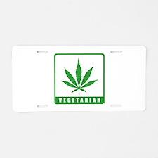 Vegetarian Aluminum License Plate