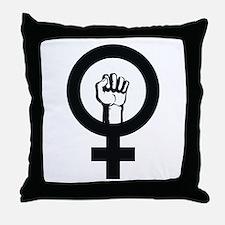 Female Power Throw Pillow