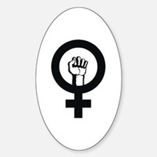 Female Power Oval Decal