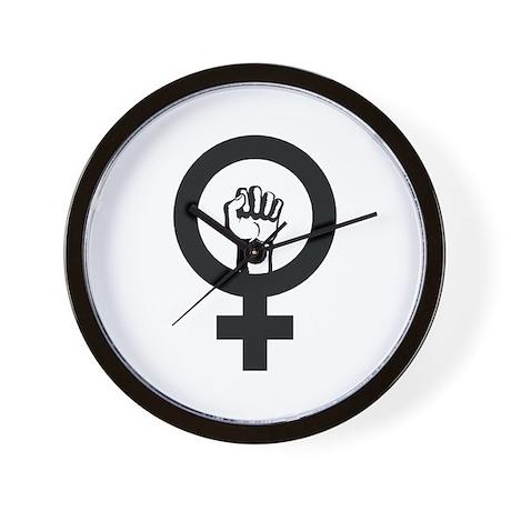 Female Power Wall Clock