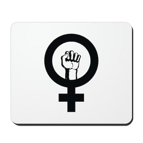 Female Power Mousepad