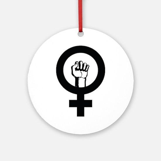 Female Power Ornament (Round)