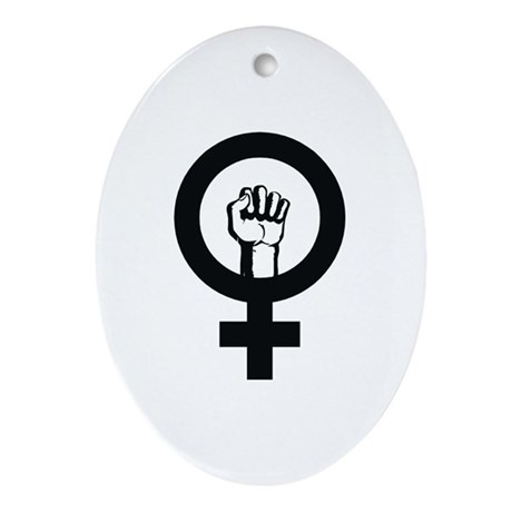 Female Power Oval Ornament