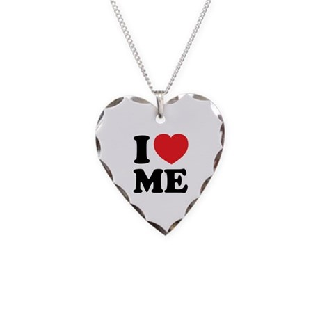 I LOVE ME Necklace Heart Charm