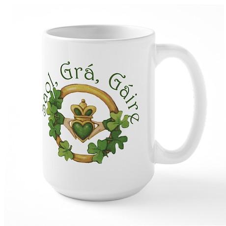 Life, Love, Laughter Large Mug