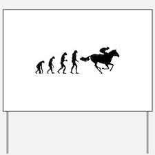 Evolution horse rider Yard Sign