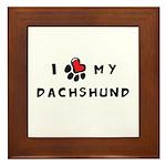 I *heart* My Dachshund Framed Tile