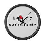 I *heart* My Dachshund Large Wall Clock