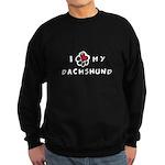 I *heart* My Dachshund Sweatshirt (dark)
