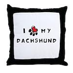 I *heart* My Dachshund Throw Pillow