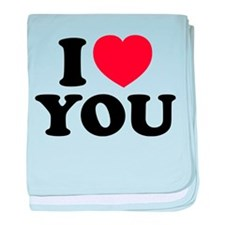 I LOVE YOU baby blanket