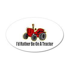 Funny Tractor 22x14 Oval Wall Peel