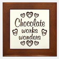Chocolate Wonder Framed Tile