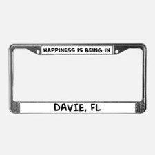 Happiness is Davie License Plate Frame