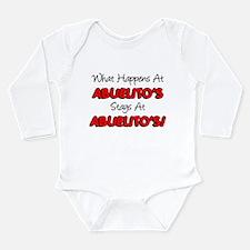 What Happens Abuelito's Long Sleeve Infant Bodysui