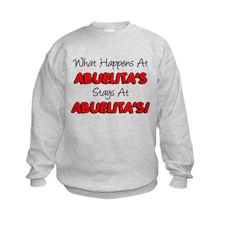 What Happens At Abuelita's Kids Sweatshirt
