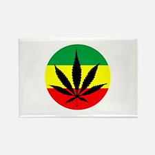 Rasta Marijuana Rectangle Magnet