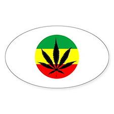 Rasta Marijuana Decal