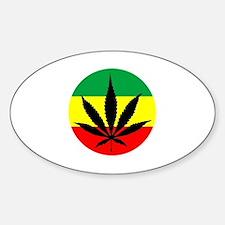 Rasta Marijuana Sticker (Oval)