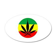 Rasta Marijuana 22x14 Oval Wall Peel