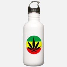 Rasta Marijuana Sports Water Bottle