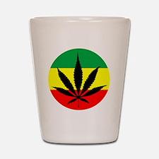 Rasta Marijuana Shot Glass