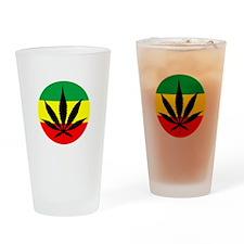 Rasta Marijuana Drinking Glass