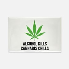 Cannabis Chills Rectangle Magnet