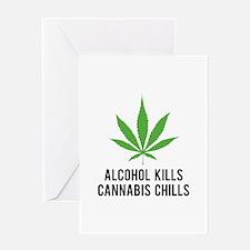 Cannabis Chills Greeting Card
